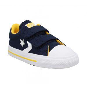 Converse Chaussures enfant Star Player 2V Varsity Canvas bleu - Taille 18,19,20,21,22,23,24,25,26