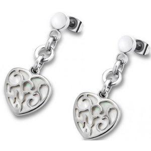 Lotus LS1669-4-1 - Boucles d'oreilles pendantes en argent Coeur