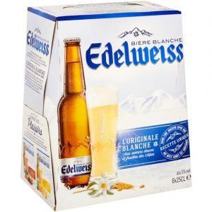 Edelweiss L'originale bière blanche - Les 6 bouteilles de 25cl