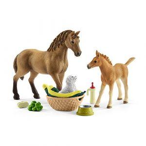 Schleich Figurine soins de Sarah pour bébé animaux (42432)
