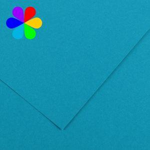 Canson 200040798 - Feuille Iris Vivaldi A4 240g/m², coloris bleu primaire 21