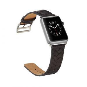 bracelet cuir noir apple watch 42mm series 1 2 3 comparer avec. Black Bedroom Furniture Sets. Home Design Ideas