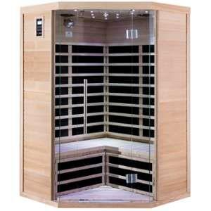 Sauna infrarouge d?angle 2-3 places panneaux carbone 2180W - SNÖ