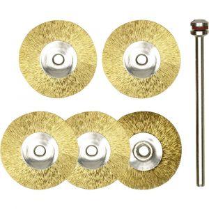 Proxxon micromot Brosse en laiton - Disque Ø 22 mm - 5 pcs