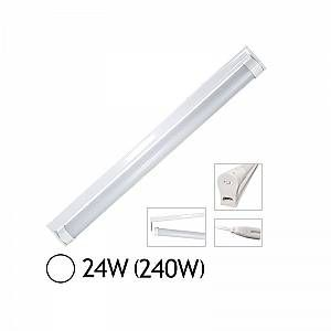 Vision-El Tube LED 24W (240W) T8 1500 mm Blanc jour 6000°K dépoli + support chainable