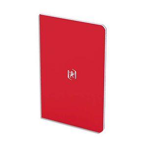 Oxford Pocket Notes agrafé - couverture carte - 9 x 14 cm - 48 pages - ligné 6 mm - rouge tomate