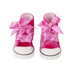 Gotz Sneakers, pink velvet, 42-50cm