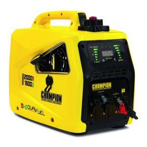 Champion Groupe électrogène Inverter insonorisé essence / gaz 2000W 82001I-E-EU-DF
