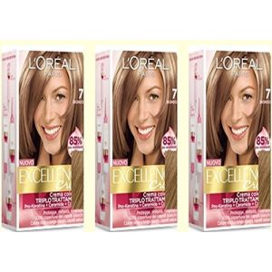 L'Oréal Excellence - Crema Colorante Triplo Trattamento Avanzato - 7 Biondo