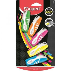 Maped Fluo'Peps Pocket 742728 Blister de 5 Surligneurs