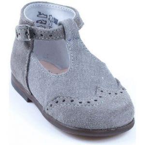 Image de Little Mary Francois, Chaussures Premiers pas bébé garçon, Gris (Velours Acier), 19 EU