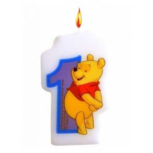 Bougie chiffre numéro 1 Winnie l'Ourson