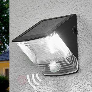 Brennenstuhl Applique murale solaire LED noire à detécteur IP 44