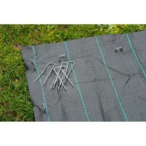 Agrafes métalliques pour fixation au sol Ø4mm H20 x 12 cm