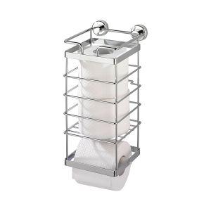 Wenko 17833100 - Distributeur avec réserve papier WC