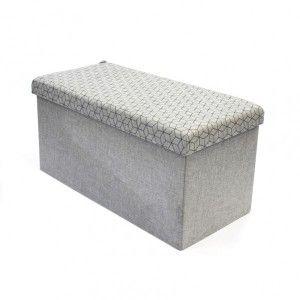 Banc avec coffre de rangement gris clair pliable