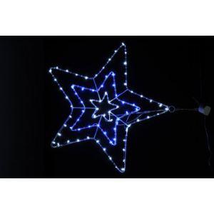 Blachère illumination Etoile lumineuse 80 LED blanche et bleue
