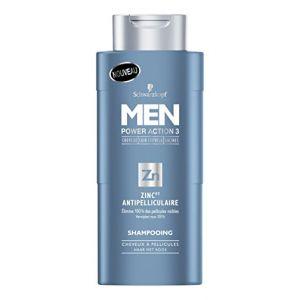 Schwarzkopf Power Action 3 zinc pt - Shampoing anti pelliculaire pour homme