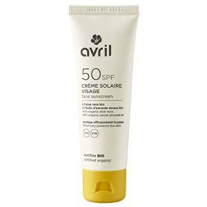 Avril Crème solaire visage 50spf