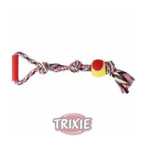 Trixie Corde multicolore avec poignée et balle (50 cm)