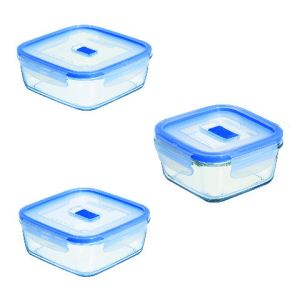 Luminarc 3 boîtes carrées Pure box active (38 / 76 / 122 cl)