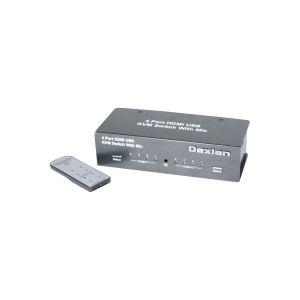 Dexlan 52410 - KVM HDMI 4K USB 4 entrées 2 sorties