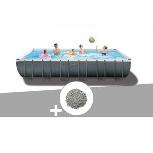 Intex Kit piscine tubulaire Ultra XTR Frame rectangulaire 7,32 x 3,66 x 1,32 m + 20 kg de zéolite