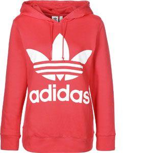 Adidas Trefoil sweat à capuche Femmes rouge T. 40