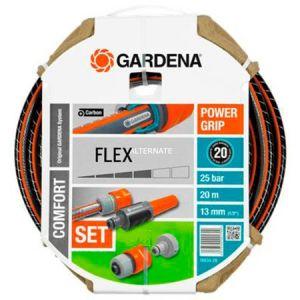Gardena 18034 - Tuyau de jardin Comfort Flex 20 m avec armatures