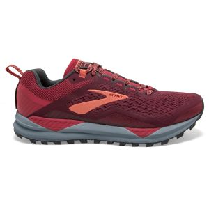 Brooks Chaussure trail running Cascadia 14 - Rumba Red / Teaberry / Coral - Taille EU 39