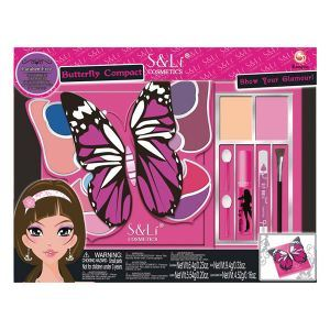 S&Li Cosmetics Coffret maquillage Butterfly Compact