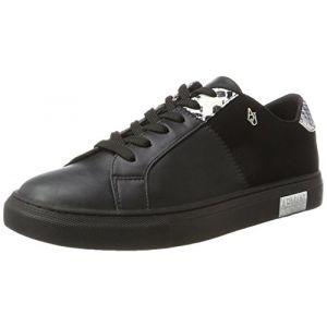 Armani Jeans Sneaker Bassa, Basses Femme - Noir - Schwarz (Nero),