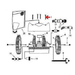 Procopi 1021009 - Vis de couvercle de robot Victor, les 3