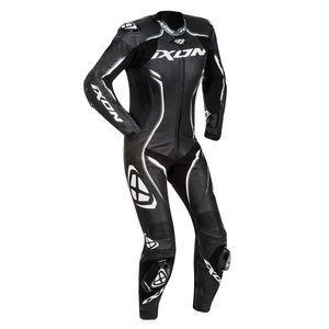 Ixon Combinaison cuir femme Vortex Lady noir/blanc/fushia - L