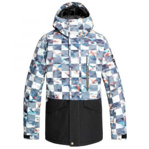 Quiksilver MISSION PRINTED BLOCK JK BARN RED ONGRID 20 [Taille S]