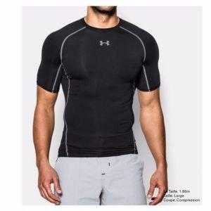 Under Armour by JBL Under Armour - Heat Gear T-Shirt - manches courtes - Homme - Noir (Noir/Acier) - Taille: M