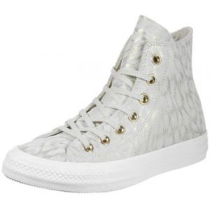 Converse Chaussures CHUCK TAYLOR ALL STAR SHIMMER SUEDE HI BUFF/BUFF/WHITE