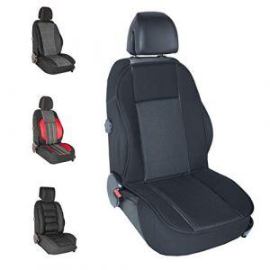 DBS 1013063 Couvre Siège-Voiture/Auto-Noir-Grand Confort-Antidérapant-Compatible Airbag-Universel