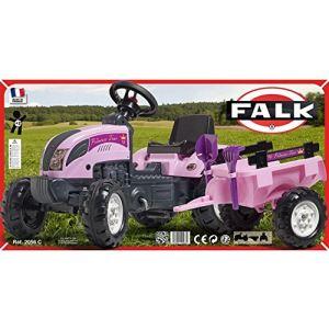 Falk Tracteur à pédales Princess Trac avec remorque