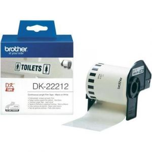 Brother DK22212 - Ruban continu support film adhésif Noir/blanc 15 m x 62 mm