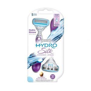 Wilkinson Hydro Silk - Rasoirs jetables féminins - Pack de 3