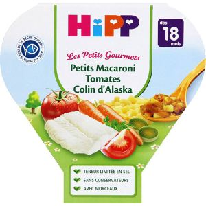 HiPP Biologique Les Petits Gourmets : Macaroni Tomates Colin d'Alaska 260g - dès 18 mois