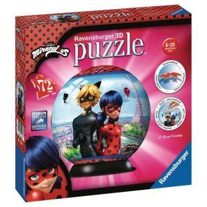 Ravensburger Puzzle 3D 72 Pièces : Puzzle Ball - Miraculous