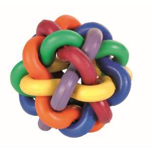 Trixie Balle nouée multicolore en caoutchouc (7 cm)