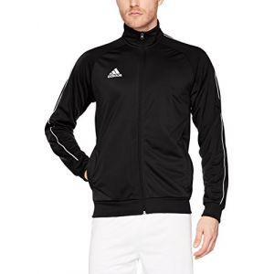 Adidas Core 18 Polyester Jacket Veste de Survêtement Homme, Noir/Blanc, FR : S (Taille Fabricant : S)