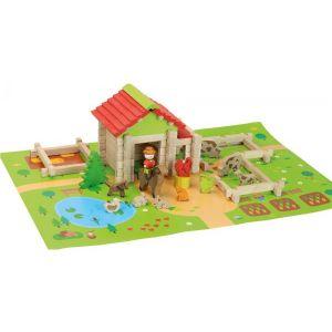 Jeujura Ma première petite ferme en bois - 80 pièces