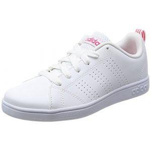 Adidas Vs Advantage Cl K, Chaussures de Running Mixte Enfant, Bianco, Blanc (Ftwbla/Ftwbla / Supros), 35 EU