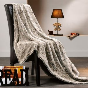 LINDER Plaid Savane fausse fourrure (130 x 150 cm)