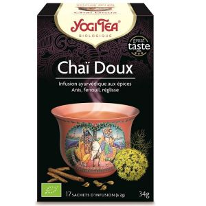 Yogi Tea Thé Sweet Chai - Boîte de 17 sachets