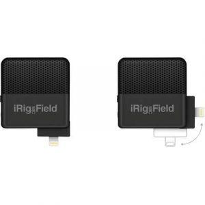 Ik multimedia IRig Mic Field Microphone avec port Lightning pour iPod/iPhone/iPad Noir